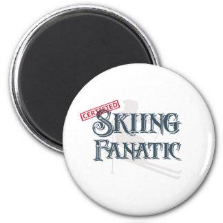 Skiing Fanatic Magnet