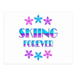 Skiing Forever Postcard