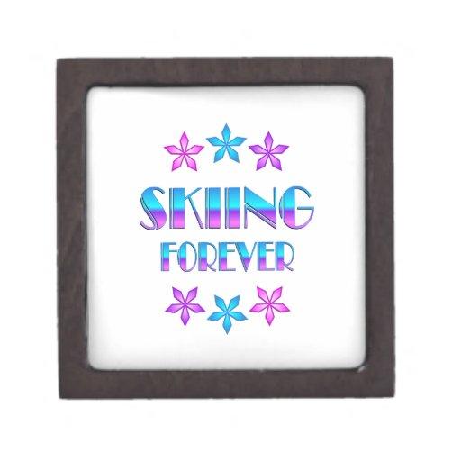 Skiing Forever Premium Trinket Box