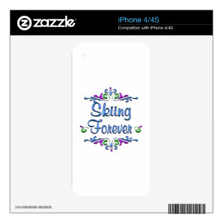 Skiing Forever iPhone 4S Decals
