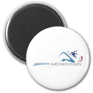 Skiing Fridge Magnet