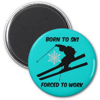 Skiing Fridge Magnets