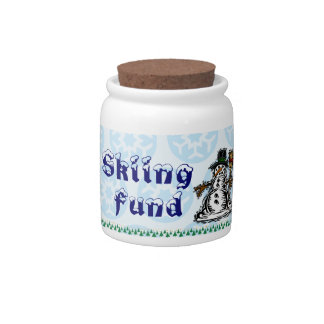 Skiing Fund Candy Dishes