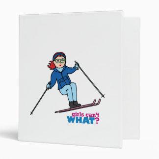 Skiing Girl Light/Red Vinyl Binders