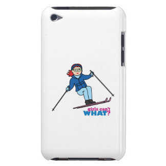 Skiing Girl Light/Red Barely There iPod Covers