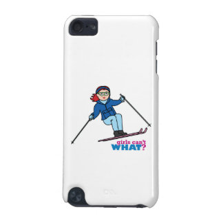 Skiing Girl Light/Red iPod Touch 5G Cases