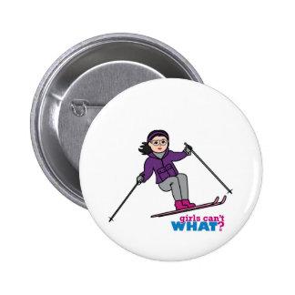 Skiing Girl - Medium Pins