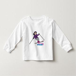 Skiing Girl - Medium Toddler T-shirt