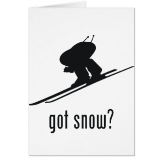 Skiing Greeting Card