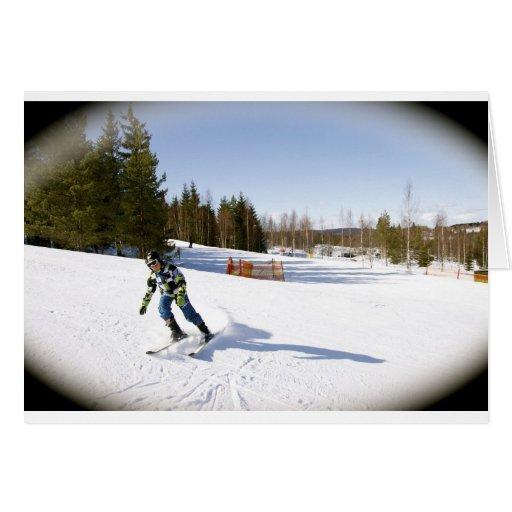 skiing hälsnings kort