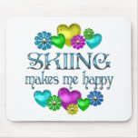 Skiing Happiness Mouse Pads