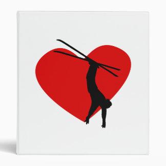 Skiing Heart Binder