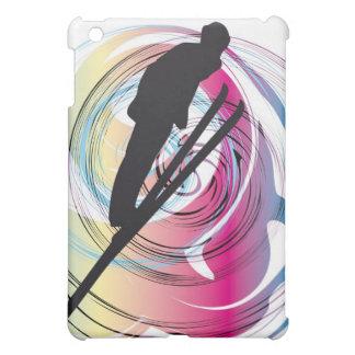 Skiing illustration iPad mini case