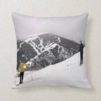 Skiing In Idaho Throw Pillow