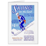 Skiing In The East 1939 WPA Greeting Cards