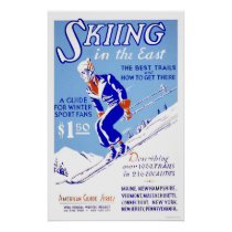 Skiing In The East 1939 WPA Poster
