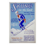 Skiing in the East Poster
