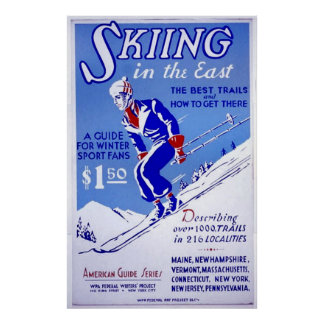 Skiing in the East Poster Prints (in many sizes)