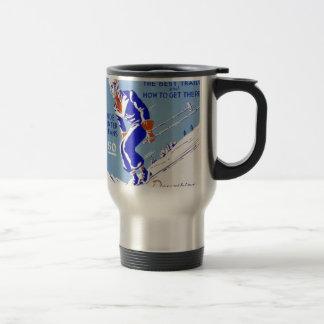 Skiing in the East Travel Mug