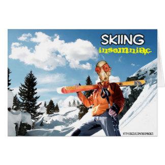 Skiing Insomniac Card