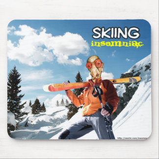 Skiing Insomniac Mouse Pad