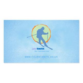 Skiing Instructor Business Card (V2 Sun Backdrop)