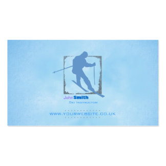 Skiing Instructor Business Card (Version 2)