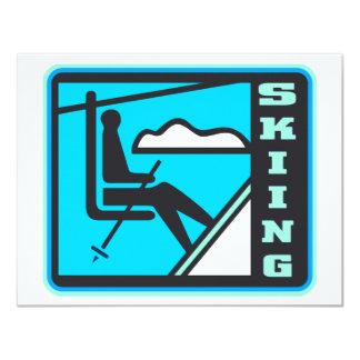 "Skiing 4.25"" X 5.5"" Invitation Card"