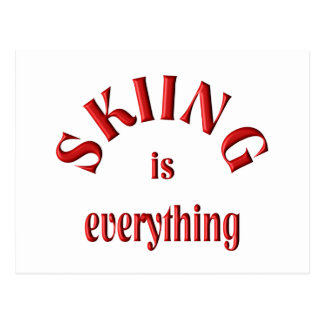 Skiing is Everything Postcard