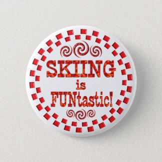 Skiing is FUNtastic Pinback Button