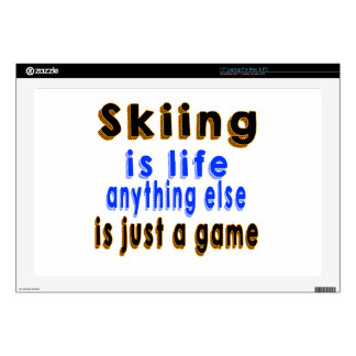 """Skiing is life anything else is just a game 17"""" laptop decals"""