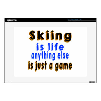 Skiing is life anything else is just a game laptop decal