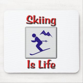 Skiing Is Life Mousepads