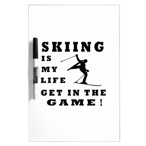 Skiing Is My Life Dry-Erase Whiteboards