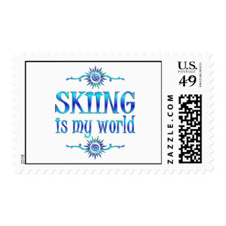 Skiing is My World Stamp