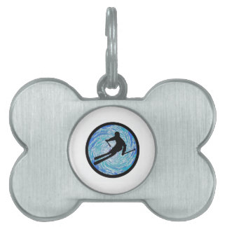 SKIING IS PARADISE PET ID TAG