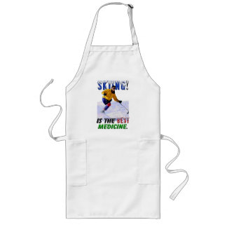 Skiing is the Best Medicine Long Apron