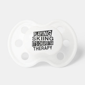 SKIING IT IS CHEAPER THAN THERAPY PACIFIER