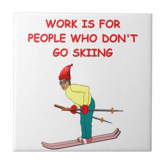 skiing joke tile