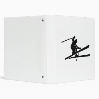 Skiing jump 3 ring binder