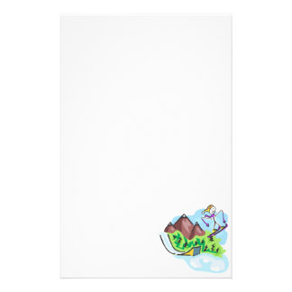 Skiing Jumper Personalized Stationery