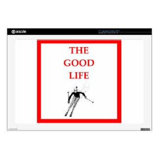 skiing laptop decal