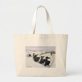 Skiing Large Tote Bag