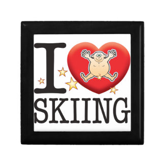 Skiing Love Man Jewelry Boxes
