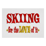 Skiing Love Posters