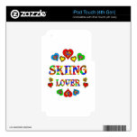 Skiing Lover Decal For iPod Touch 4G
