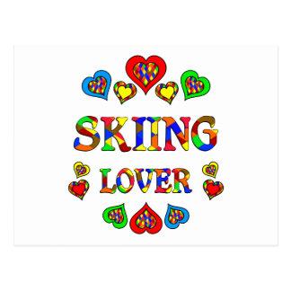 Skiing Lover Postcard