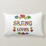 Skiing Lover Throw Pillows