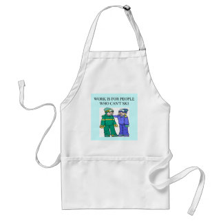 skiing lovers apron