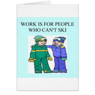 skiing lovers card